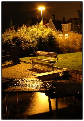 benk i natten